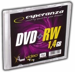 Płyta Esperanza mini DVD+RW 1,4GB x4 Slim