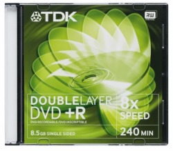 Płyta TDK DVD+R Double Layer 8,5GB 8x Slim